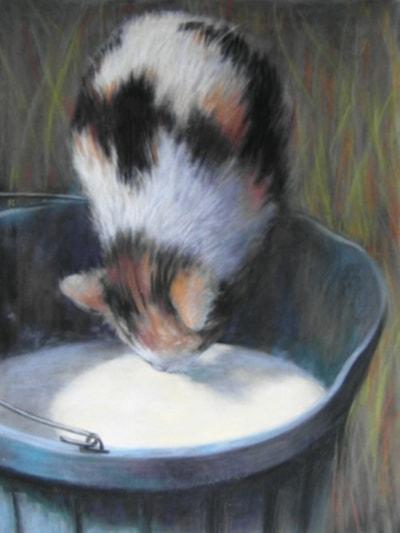 The bucket of milk