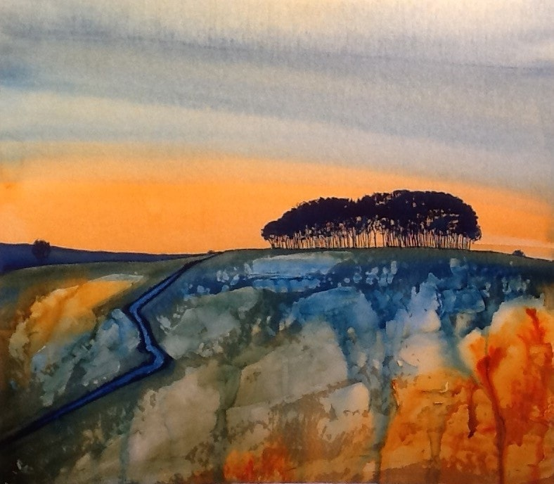 The road to Cornwall - Lifton copse