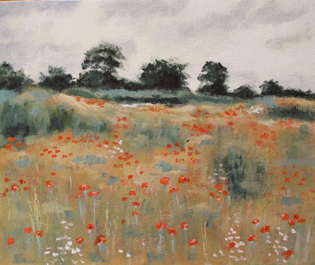 Poppies in an old quarry