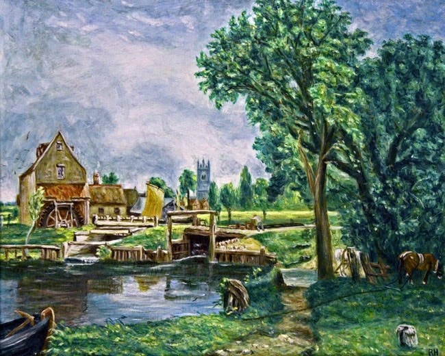 Dedham Lock and Mill - A Tribute to John Constable