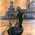 Gondolier at Sunset.
