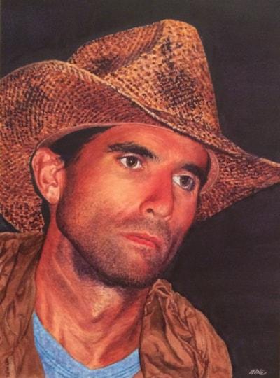 Midnight Cowboy - Yeee-ha! (Watercolour)