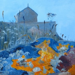 Lichen and island chapel, St Ives