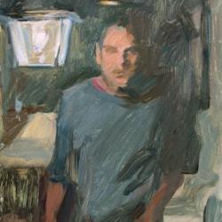 Window self-portrait