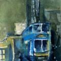 Blue bus!