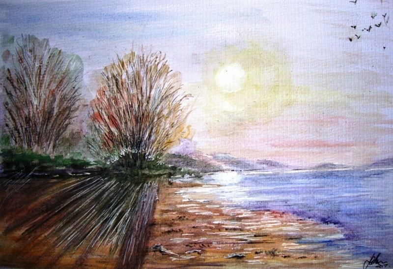 Lakeside Sunrise.....