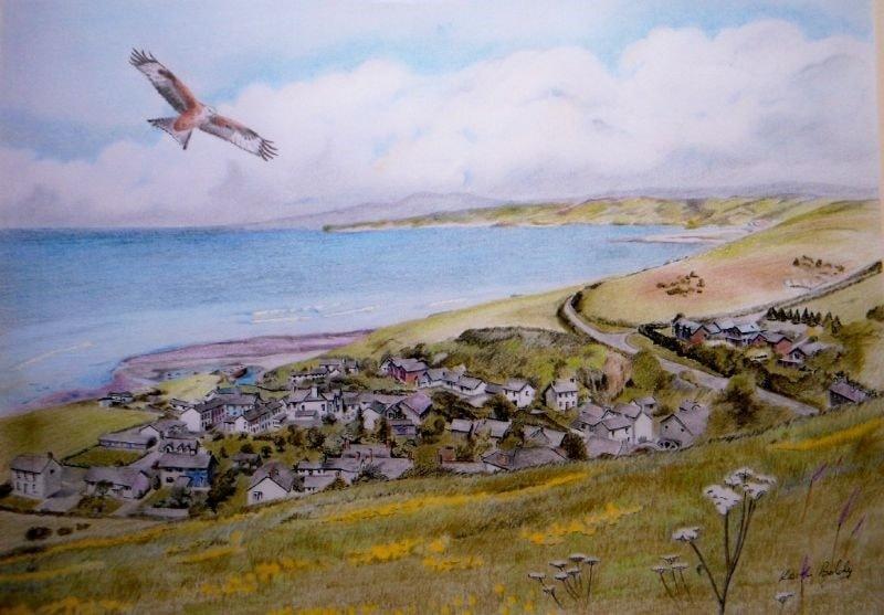 Red Kite over Aberarth