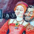 Elizabeth 1 & Sir Walter Raleigh selfie.