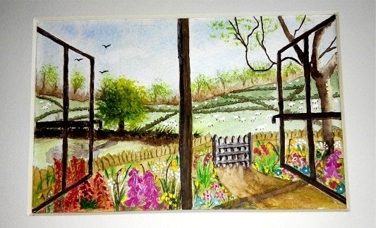 Through the Window at Hill Top Farm