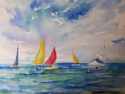 Yachts in the breeze