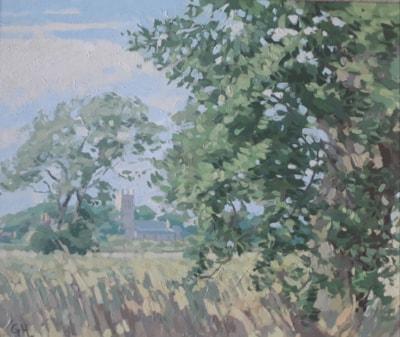 Towards the Church, Humberston, Lincs.
