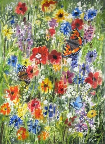 Wild Flowers and Butterflies
