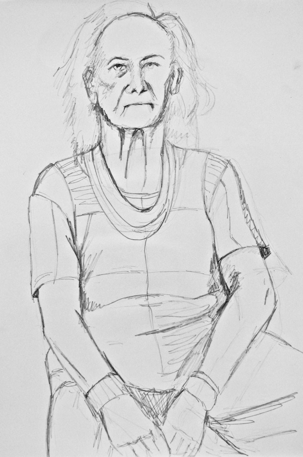Prep sketch for Aged Hippy