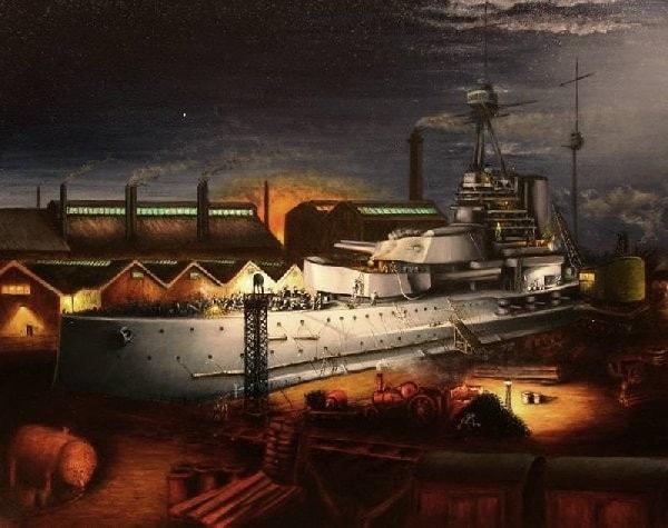 1913 rush to build the Warspite