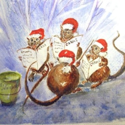 Guess who's coming to dinner?  My Christmas card to POL