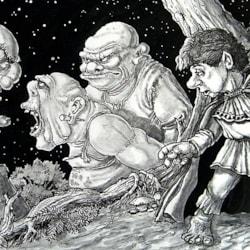 Bilbo Baggins and the Trolls.