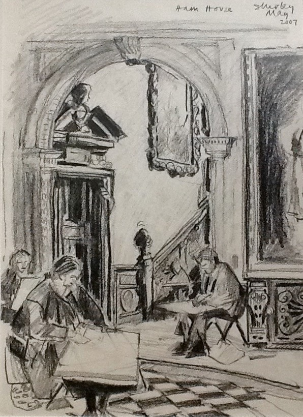 Drawing in Ham House