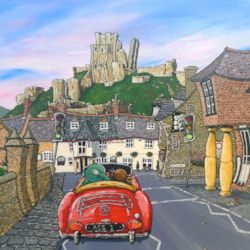 Eb & Flo 'Glory Ace Day Out'  -  Acrylic on Canvas