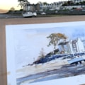 Borth y Gest plein air watercolour