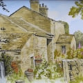 """Yorkshire rambles"" in line and wash"