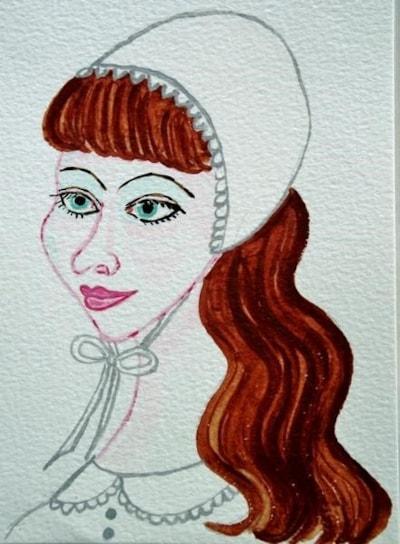 Girl in Bonnet.
