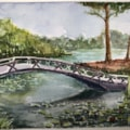 Bridge from the Japanese garden