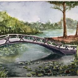Bridge from the Japanese garden