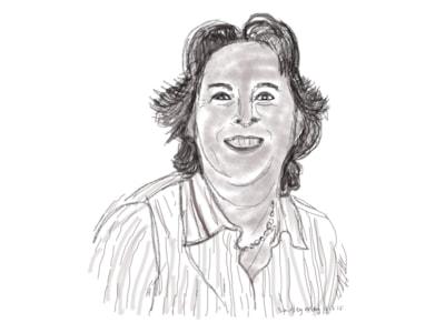 IPad Procreate portrait for indexing magazine