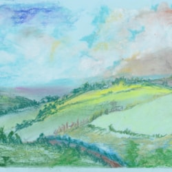 Fields in pastel