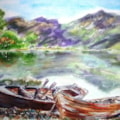 Row boats at Buttermere....
