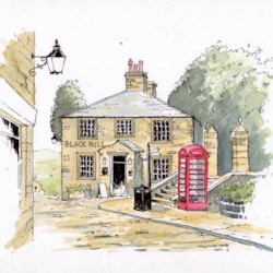 The Black Bull at Haworth - sketch