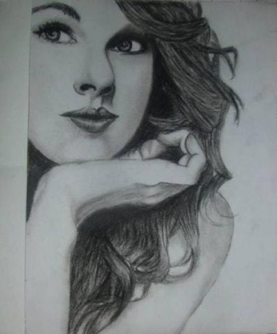 Taylor Swift Sketch Drawing