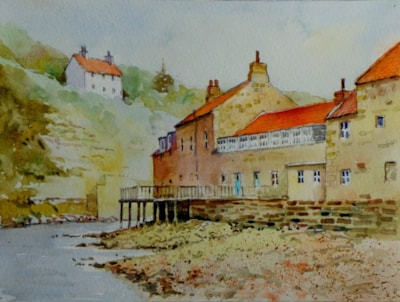 Staithes Beck near stepping stones