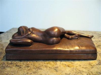 ' Sleep.'...Cold cast bronze