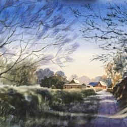 A frosty morning along Northbrook Lane