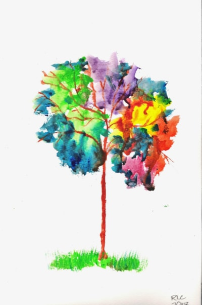 Quick Watercolour - Tree