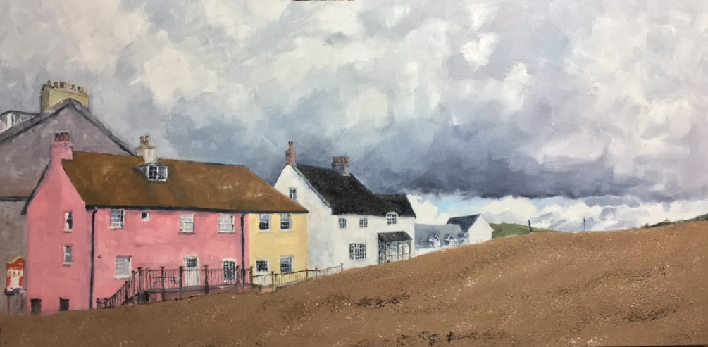 The pink house West Bay Dorset