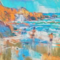 Porth Chapel beach plein air