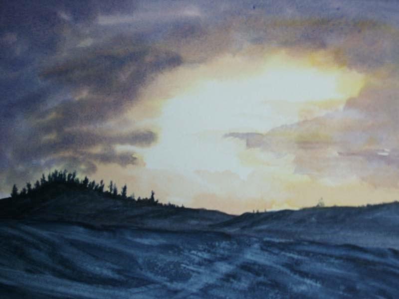 "New Start. watercolour 8x12"""