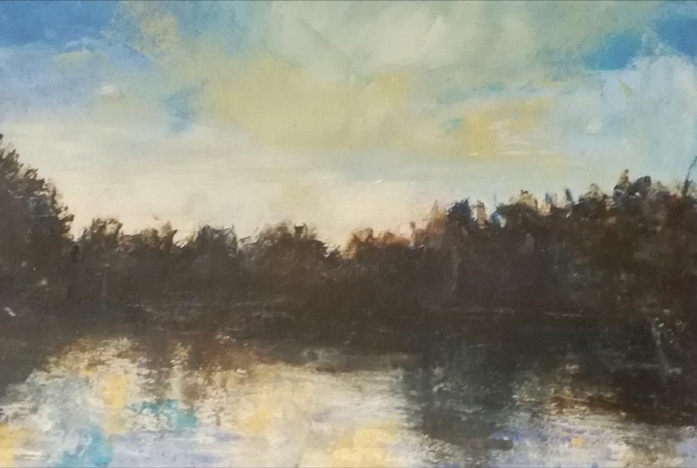 Lake at dawn