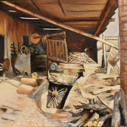 Village carpenter's workshop