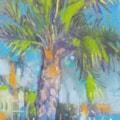 Plein air pastel sketch Costa Blanca