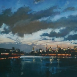 London sky line on the Thames