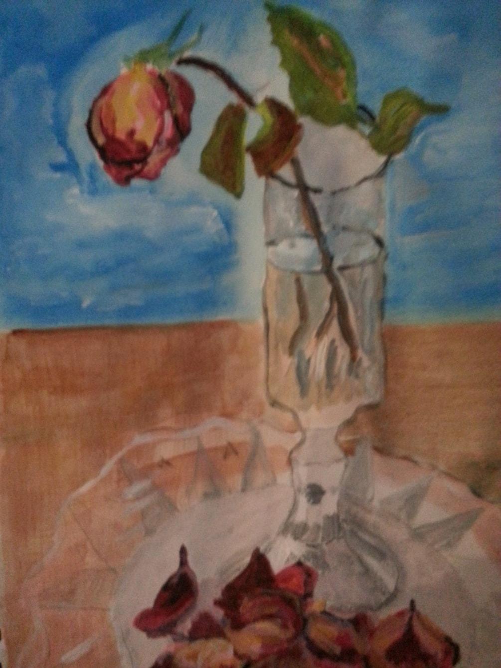 """""""Rose shedding its petals"""""""