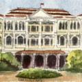 Singapore sketch 2 - Raffles Hotel