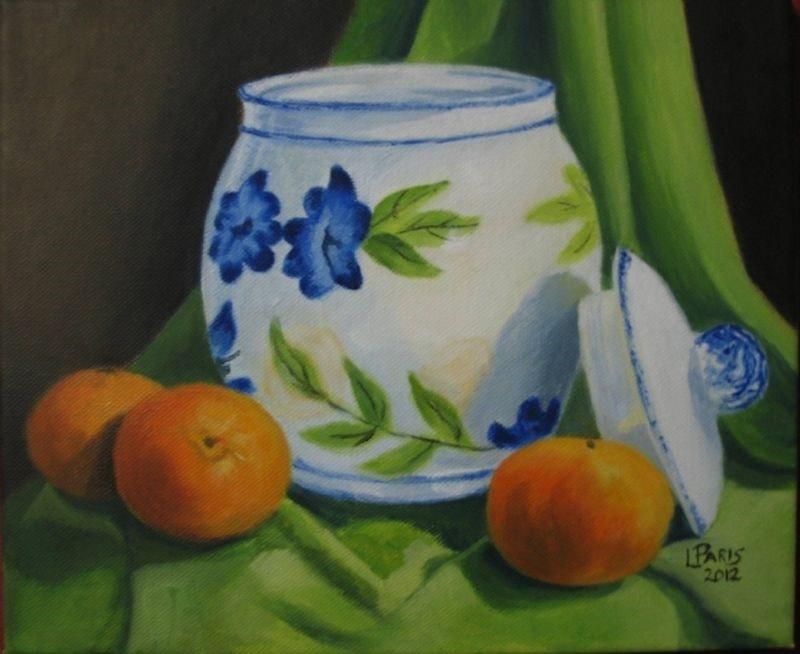 Biscuit Jar with oranges