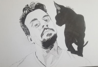 Self portrait (with cat)