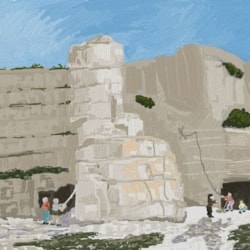 Climbing at Whin Sill, Swanage