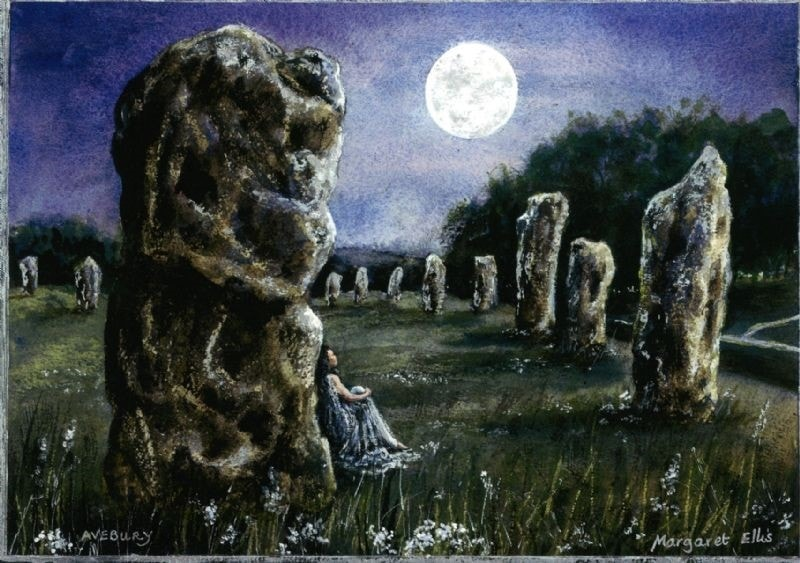 Magic Avebury by Moonlight.