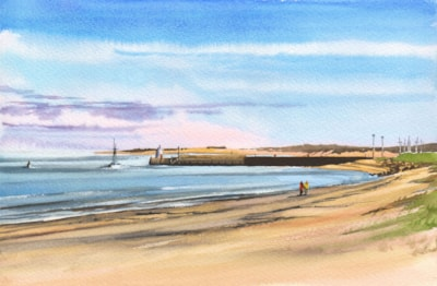 Nairn Harbour from Central Beach